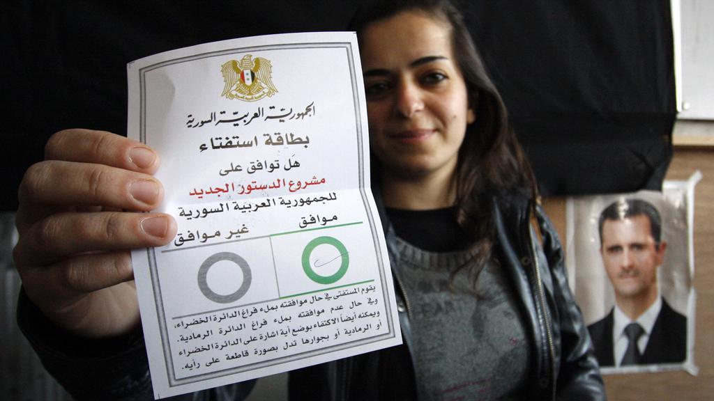 Sýrie - referendum o ústavě