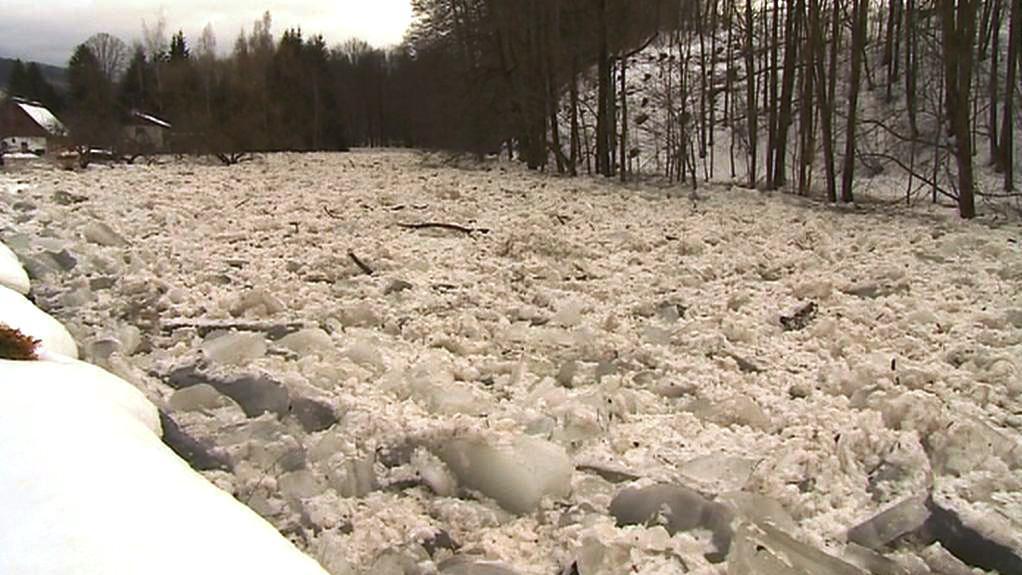 Tající sníh na Liberecku