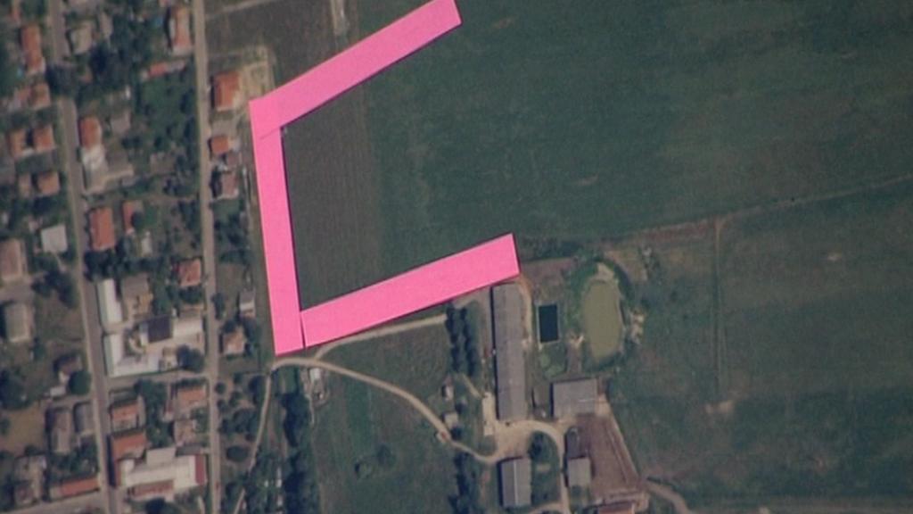 Plocha zablokovaného pozemku v Horním Jelení