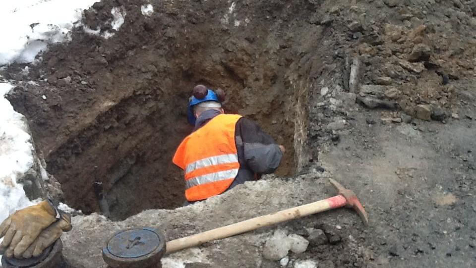 Oprava havárie vody v Kuničkách
