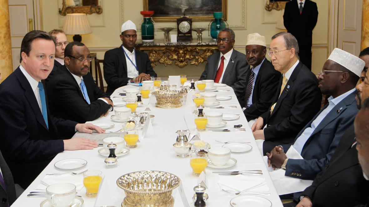 Pracovní snídaně účastníků konference o Somálsku