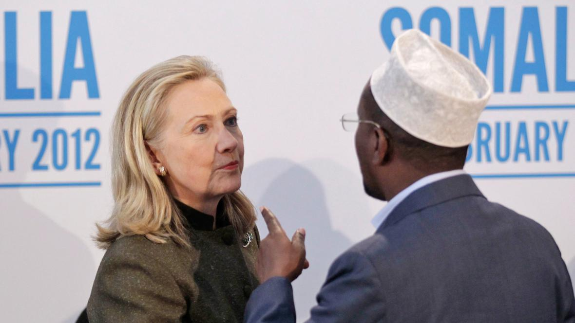 Hillary Clintonová na konferenci o Somálsku