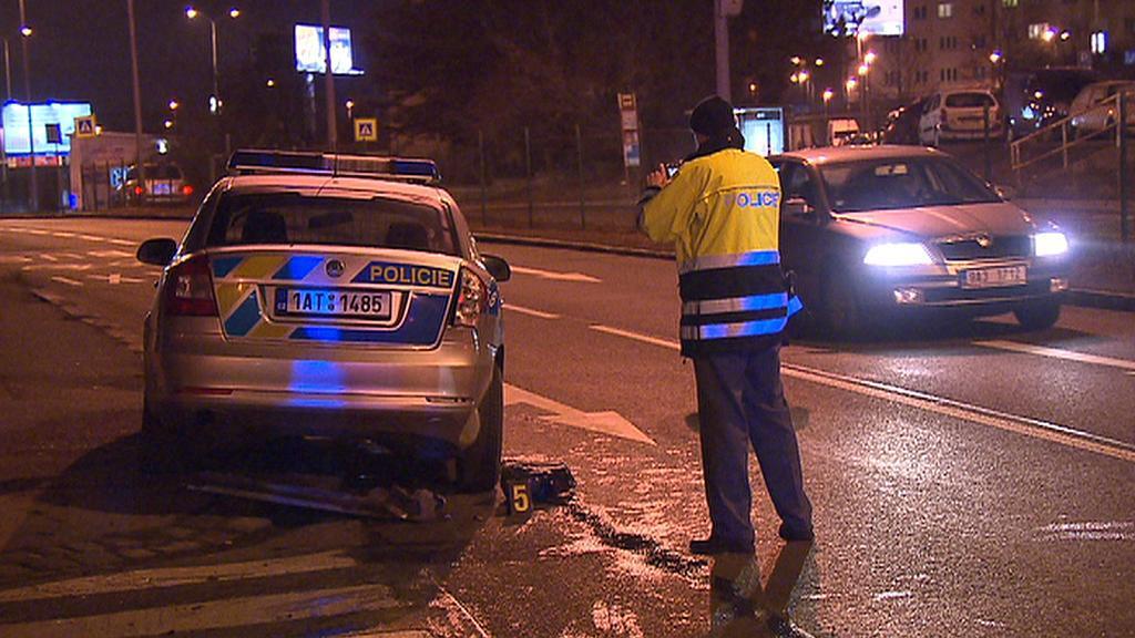 Nehoda policejního auta
