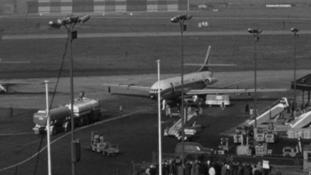 Dobový snímek ruzyňského letiště