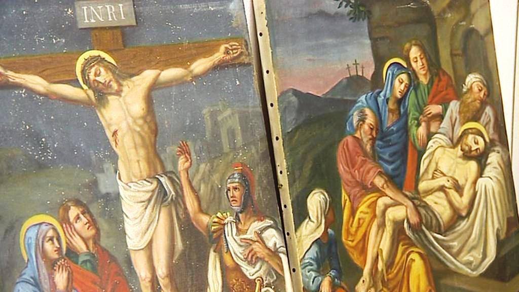 Obrazy z kostela svatého Jošta