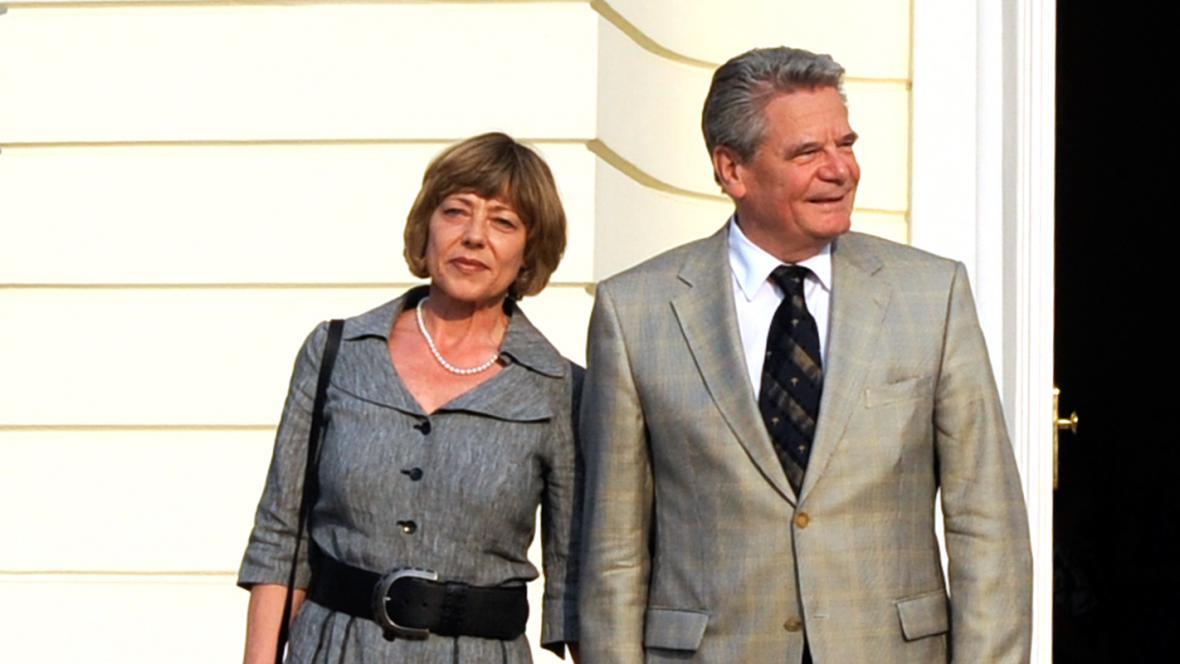 Joachim Gauck a Daniela Schadtová