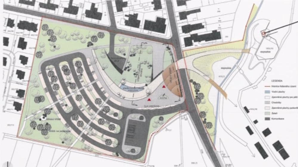 Projekt nového parkoviště před zoo
