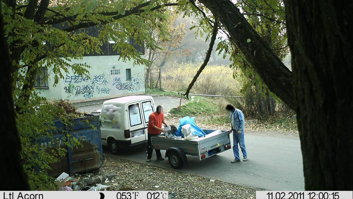 Záběry z fotopasti v Břeclavi