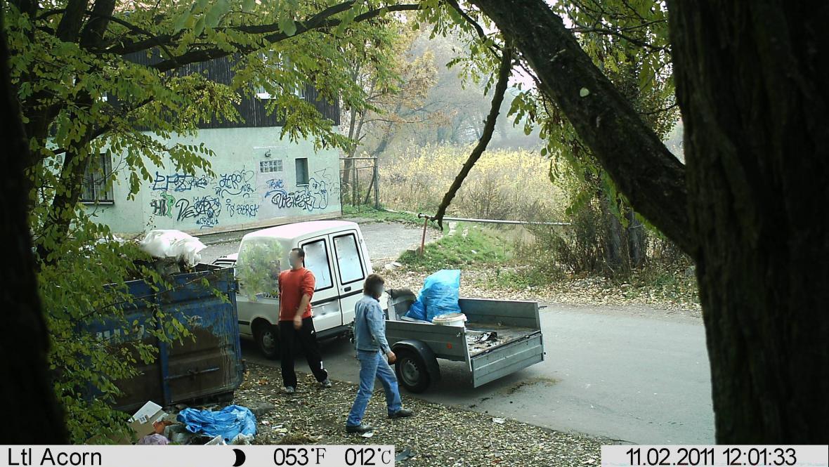 Snímek z fotopasti v Břeclavi