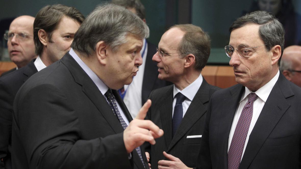 Evangelos Venizelos a Mario Draghi
