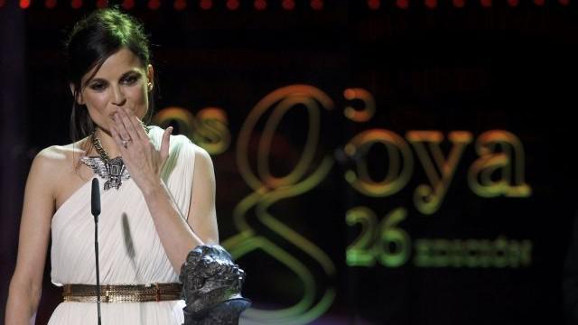Elena Anaya při přebírání Ceny Goya