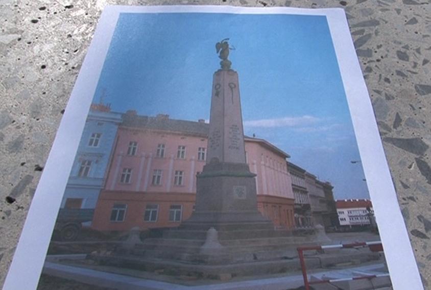 Návrh budoucí podoby pomníku na Komenského náměstí ve Znojmě