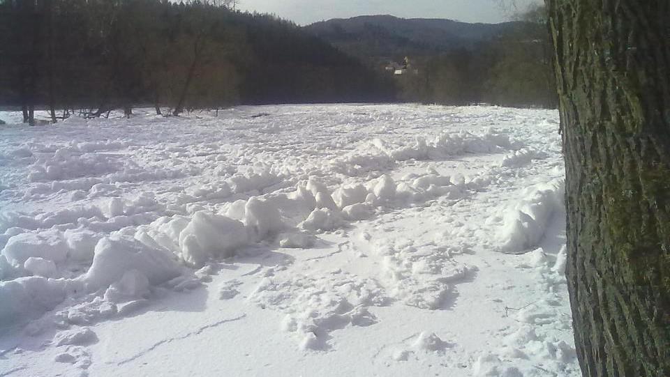 Zamrzlé koryto Ohře