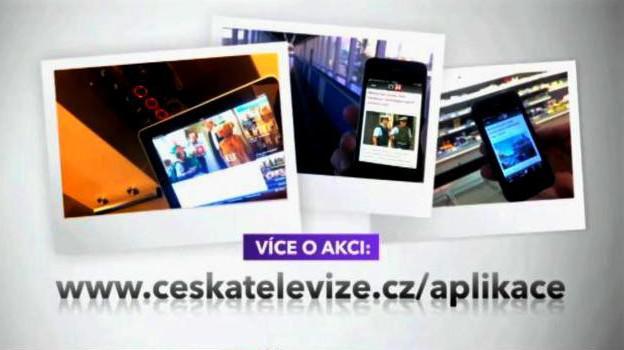 Kampaň na propagaci mobilních aplikací ČT