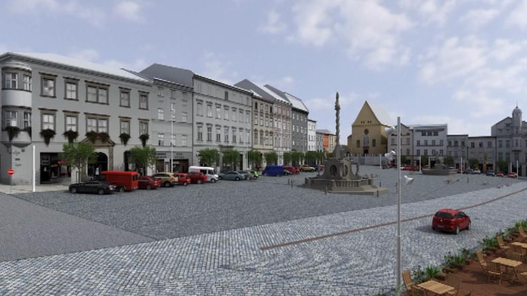 Vizualizace Dolního náměstí