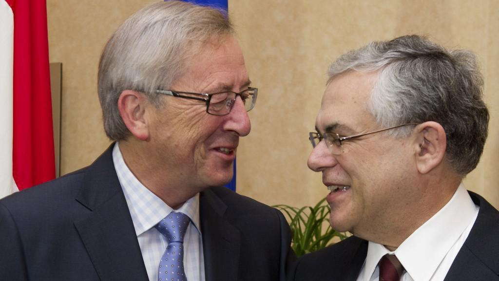 Jean-Claude Juncker a Lucas Papadimos