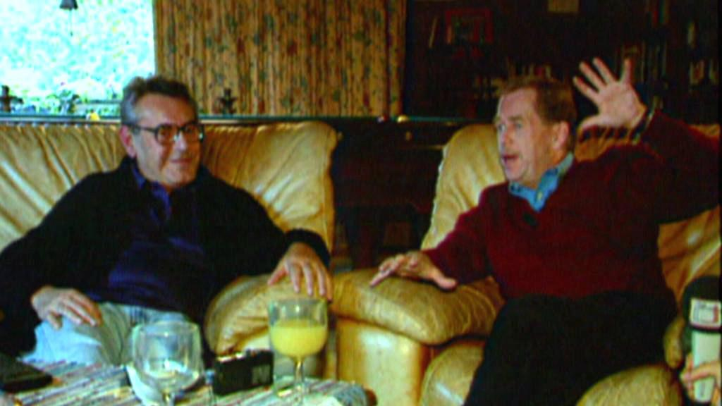 Miloš Forman a Václav Havel