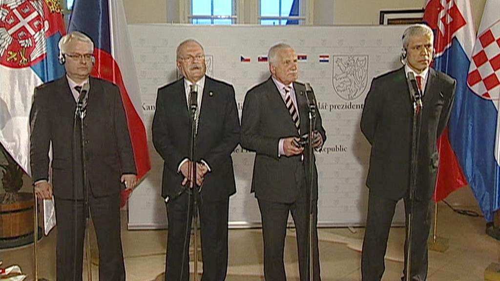 Prezidenti Česka, Slovenska, Chorvatska a Srbska