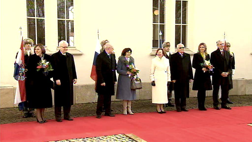 Setkání prezidentů na zámku v Lánech