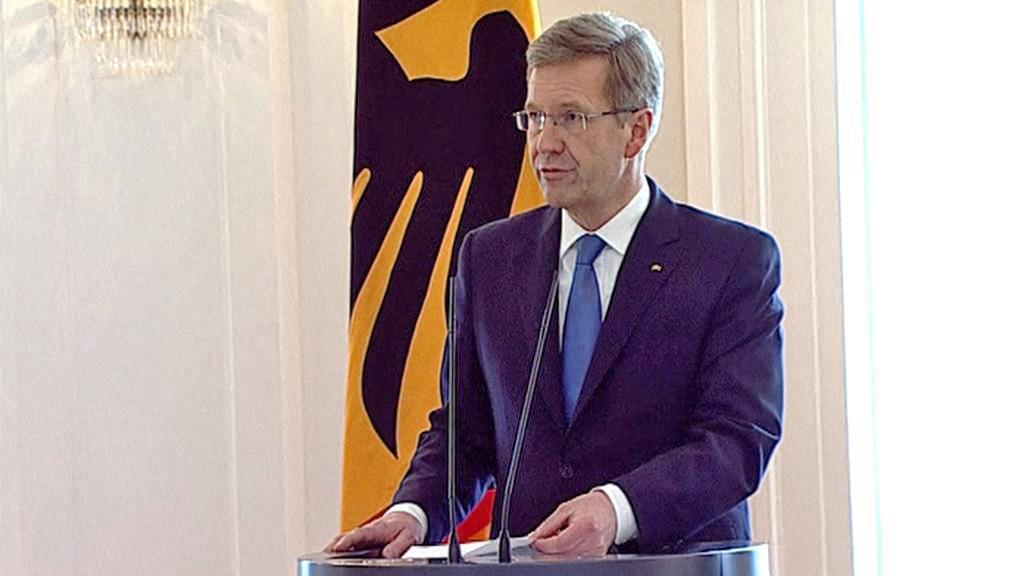 Christian Wulff oznamuje svou rezignaci