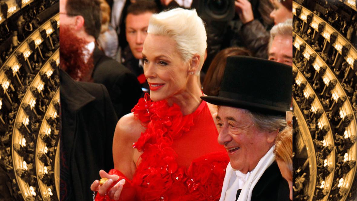 Brigitte Nielsenová a Rochard Lugner na vídeňském plesu v opeře