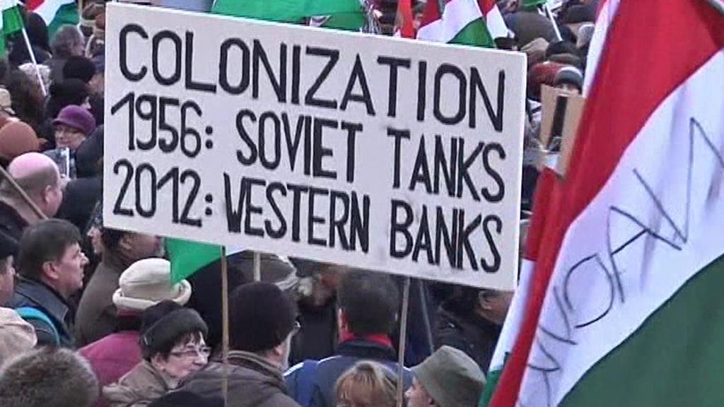 Demonstrace na podporu Orbána