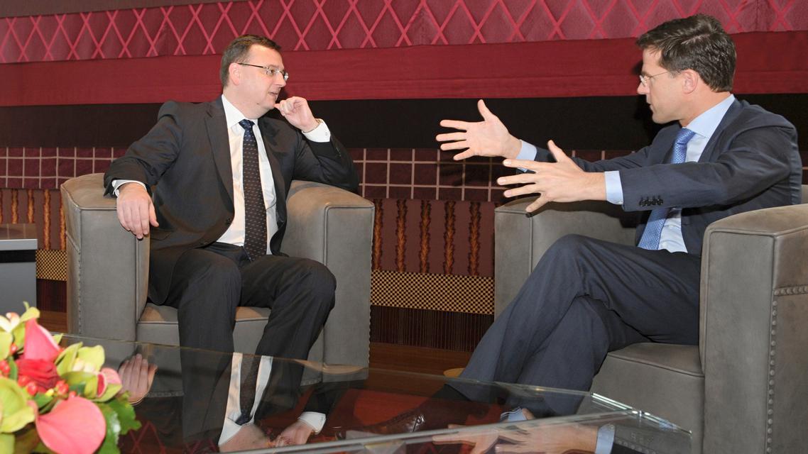 Mark Rutte a Petr Nečas