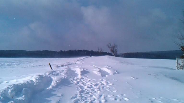 Zasněžená silnice u Protivanova