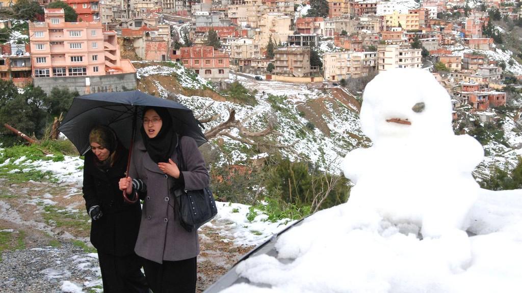 Sníh v Alžírsku