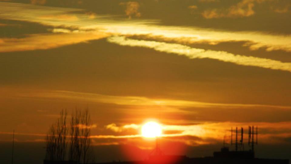 Západ slunce ve Frýdku-Místku