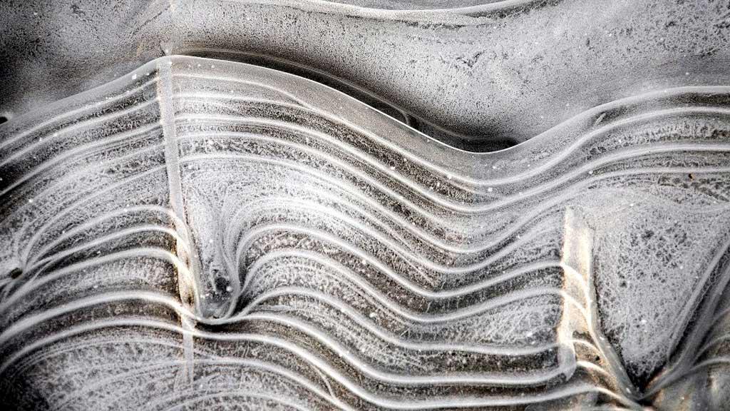 Takové obrazy maloval mráz u břehu řeky Odry v Bohumíně