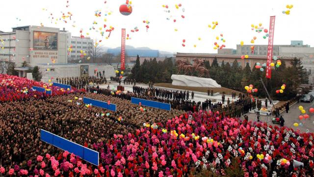 Oslavy 70. výročí narození Kim Čong-ila