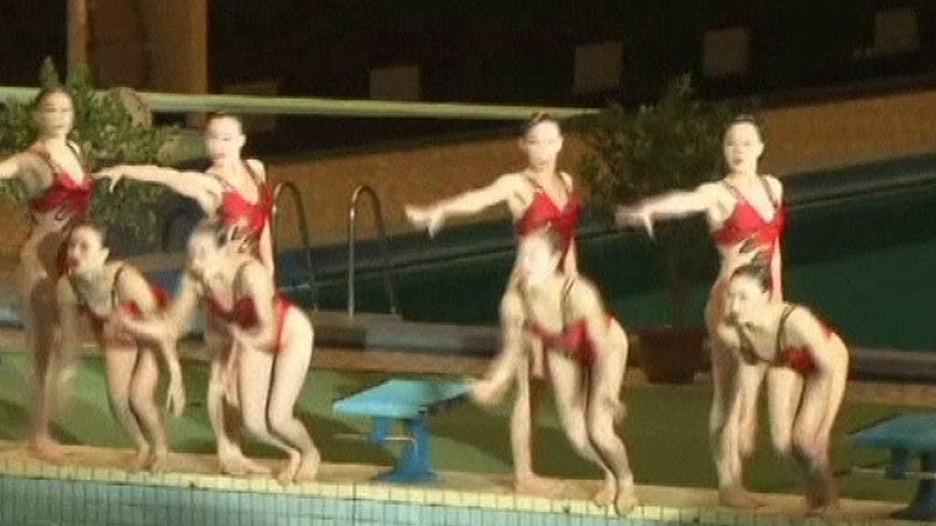 Vystoupení synchronizovaných plavkyň