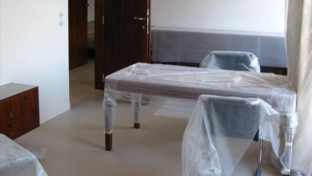 Vila Tugendhat interiér před otevřením 8