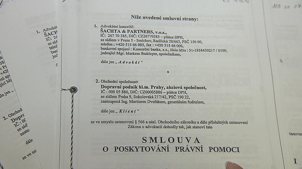 Smlouva Šachta & Partners s DPP