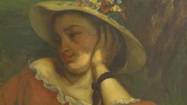 Gustave Courbet / Žena s kvítím na klobouku
