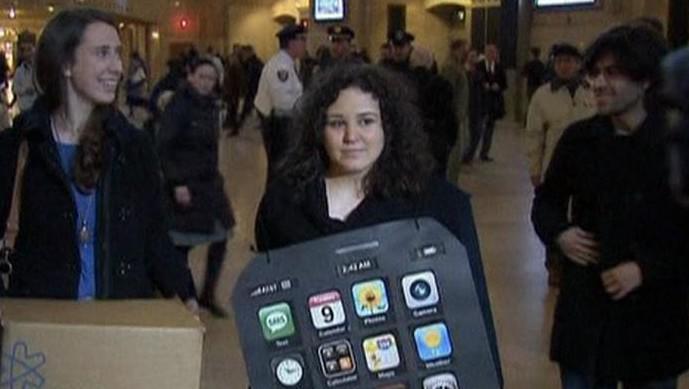 Protestující Shelby Knoxová