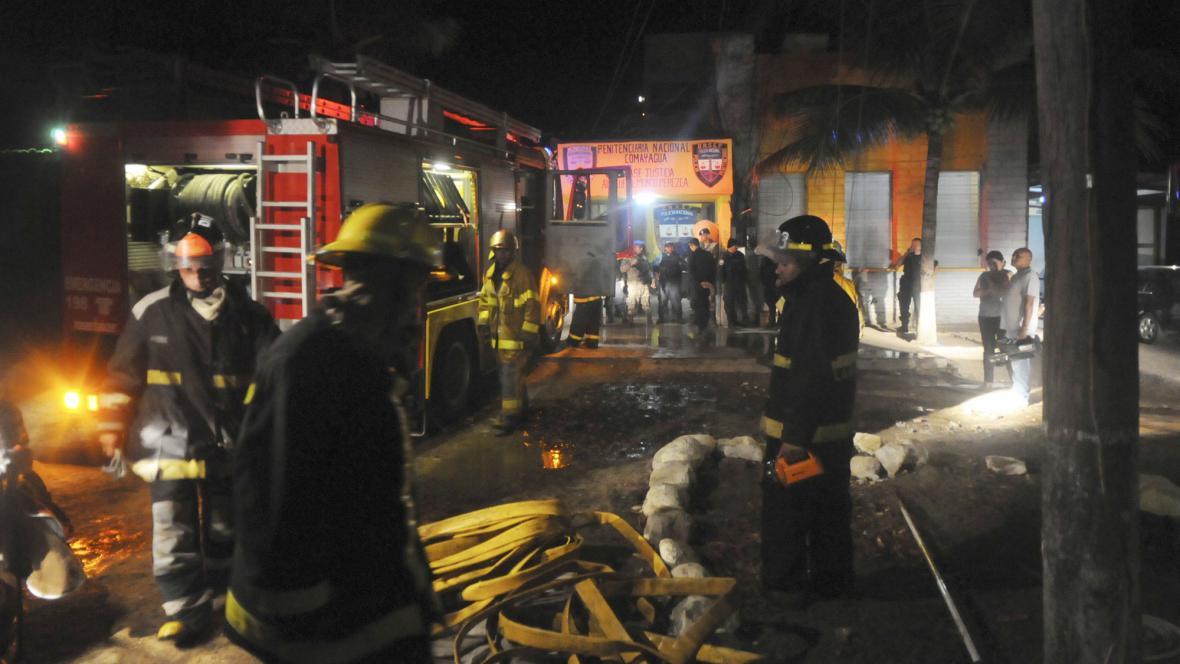 Požár věznice v Hondurasu