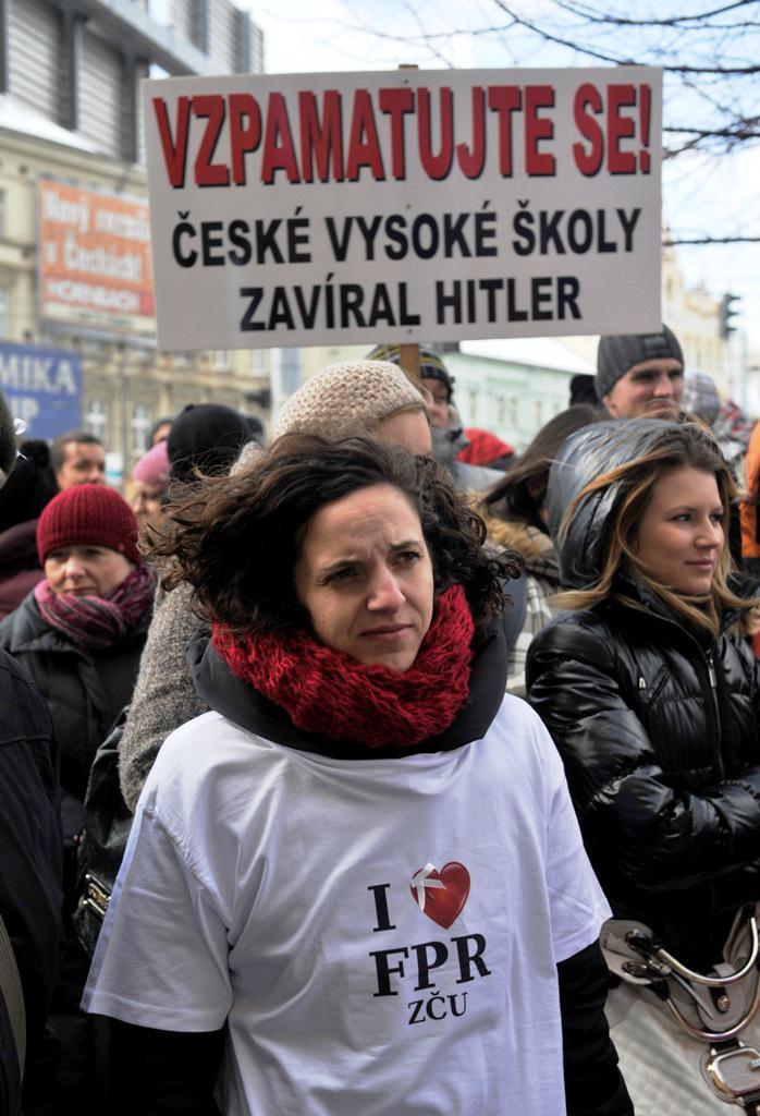 Protest studentů plzeňských práv
