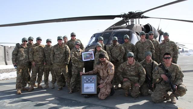 Michal Novotný s americkými vojáky