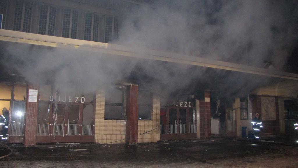 Požár na nádraží