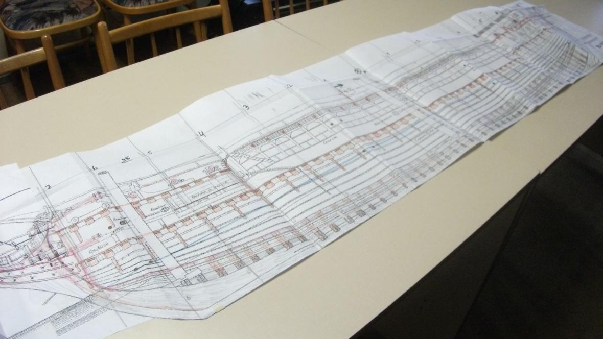 Plány lodi ve sbírkách zámku ve Slavkově