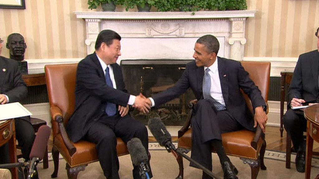 Si Ťin-pching a Barack Obama