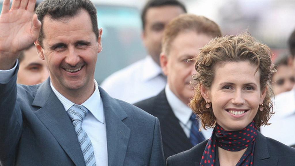 Bašár Asad s manželkou