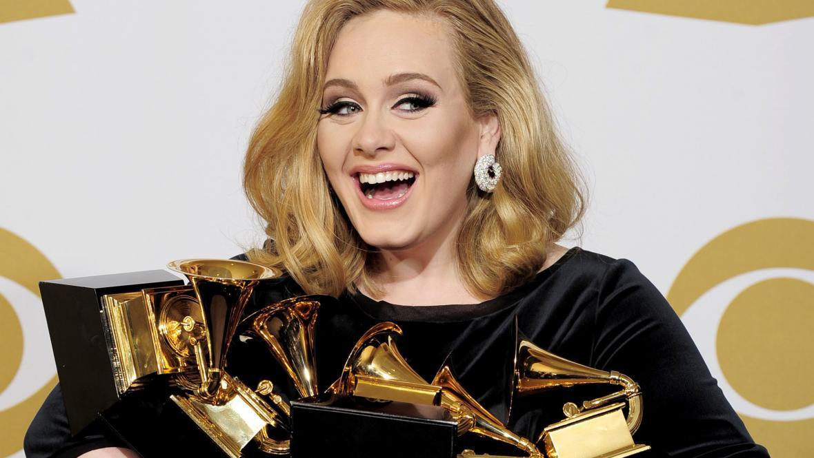 Adele ovládla hudební ceny Grammy