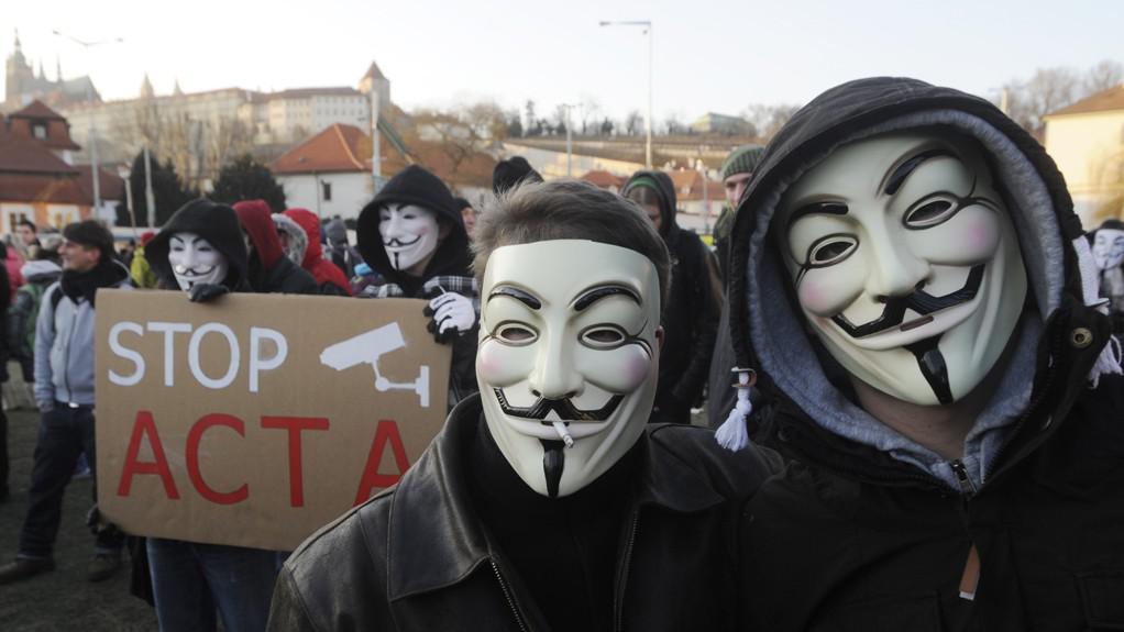 Protesty proti dohodě ACTA