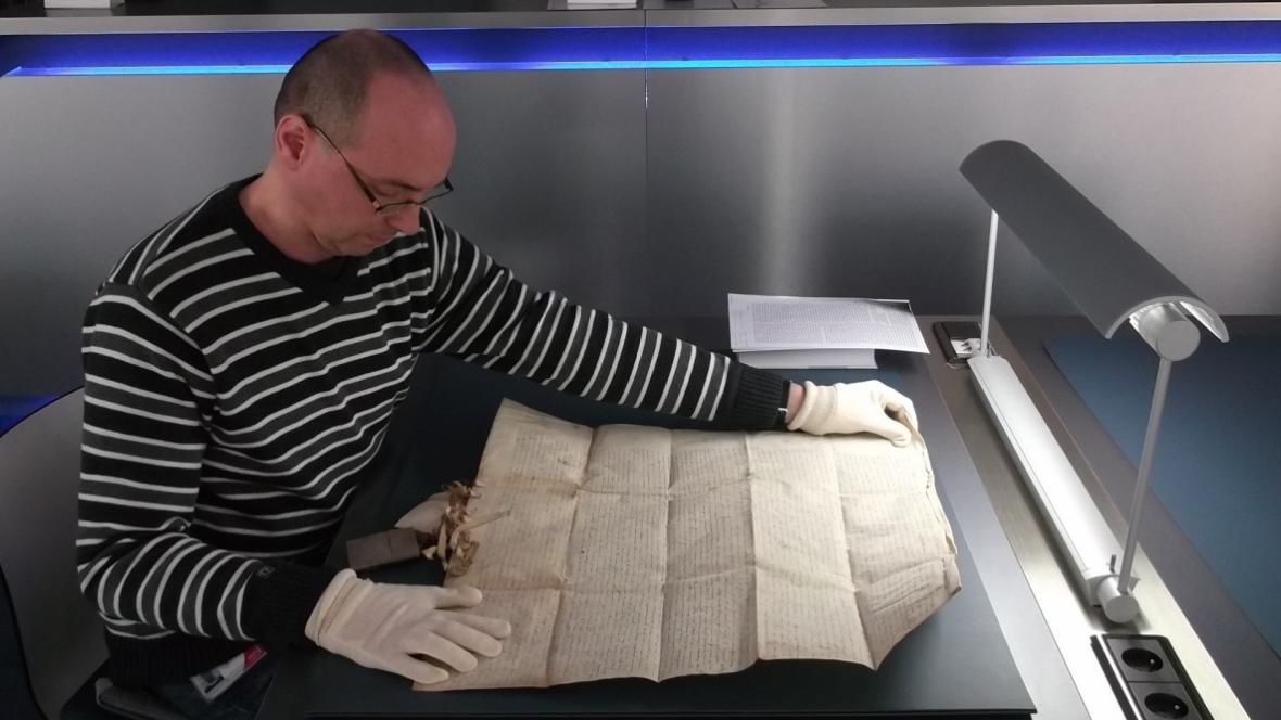 Unikátní nález se podařil Tomáši Černušákovi z Moravského zemského archivu