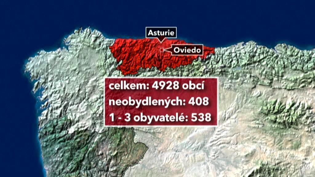 Počet obyvatel v asturských vesnicích klesá