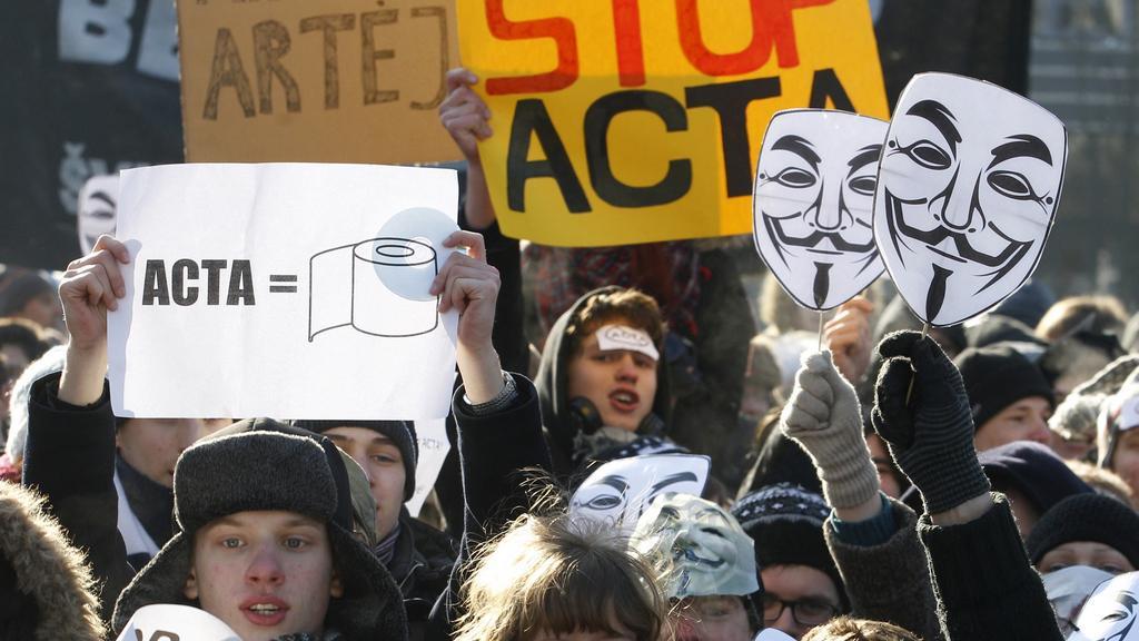 Protesty proti smlouvě ACTA