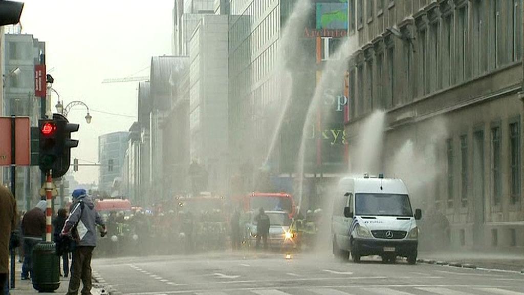 Protest belgických hasičů